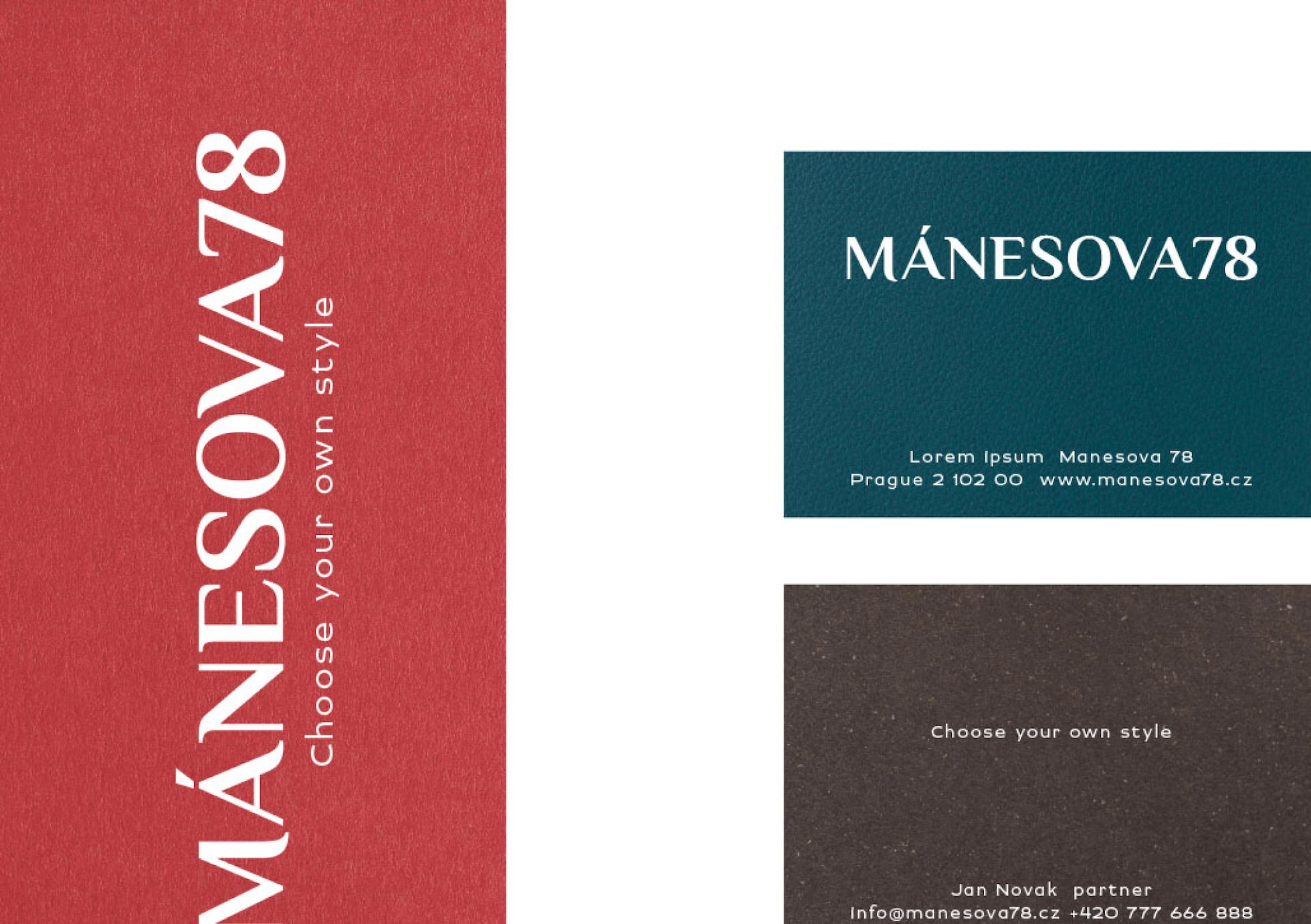 Manesova vizitky