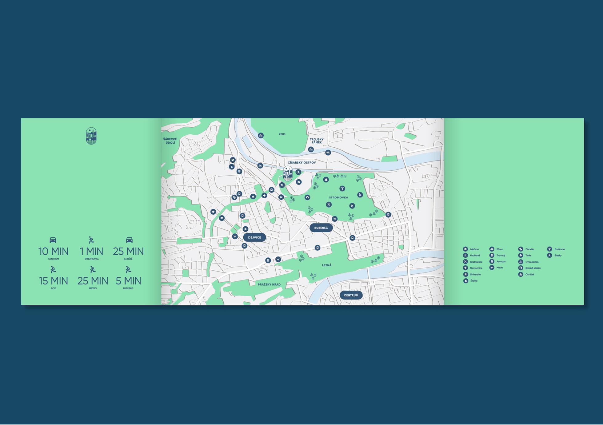 Papirna Bubenec mapa
