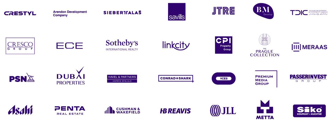 loga klientů a partnerů
